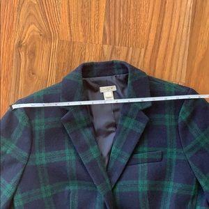 J. Crew Jackets & Coats - Jcrew factory wool plaid blazer size 2